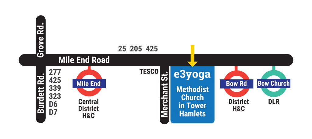 line map showing location of e3 yoga